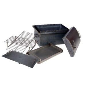 Коптильня-мангал 2,0 мм с гидрозатвором и крышкой овалом